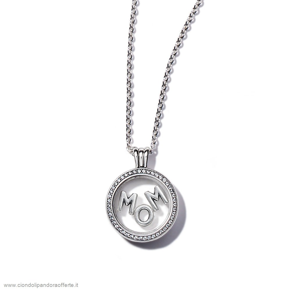 Economici Pandora Gioielli Scintillante Mamma Floating Locket Regaloimpostato